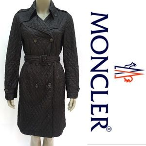 Moncler Aglae Lightweight Nylon Trench Black
